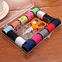 14 Colors Cotton Thread Assortment with Sewing Accessories (Random Package Colors)