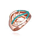 anillo de diamantes de impresión de oro de la moda de las mujeres de la margarita
