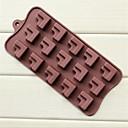 15 hoyos moldes de chocolate pastel de sofá de la esquina en forma de L forma jalea de hielo, de silicona de 22,5 × 10,2 × 1,8 cm (8,9 × 4,0 × 0,7