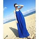 biopla correa vestido bohemio de la playa (azul marino)