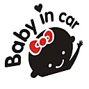 """Baby im Auto"" lovely Babys Auto-Stick."