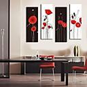 abstracto 24x70cm flor galería 33x100cm 30x90cm impresión lienzo envuelto personalizado conjunto de arte de 4