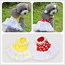 Flocking Bowknot Wedding Dress Fibrous Apparel CatDog Clothes Pet Clothes Clothes for Dogs Red Yellow XSSMLXL