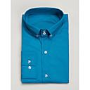 ajuste camisa de manga larga de algodón azul tailorde