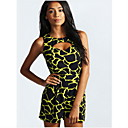 Womens Print Cut out Front Sleeveless Playsuit
