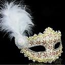 cuero 1pc toonykelly con la flor del glod cristal máscara antifaz princesa