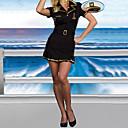 Hot Girl Black Spandex Lycra Dress Pilot Uniform Naval Uniform