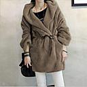 abrigo con capucha de piel de estilo de la ciudad de las mujeres