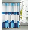 bloque azul de ducha de poliéster cortina