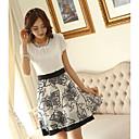 WomenS Bud Sleeve Chiffon Print Dress