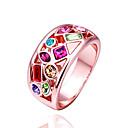 anillo de diamante colorido de la moda de las mujeres de la margarita