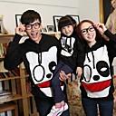 Familys Fashion Joker Leisure Cartoon Parent Child With Hood Sweatshirts