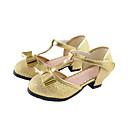bajo talón bombas t-strap espumosos niñas Glitter 'con zapatos de lentejuelas bowknot (más colores)