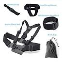 6 en 1 de accesorios GoPro cinturón de pecho  cinturón de la muñeca remoto wifi  correa de cabeza  correa del casco  bolso