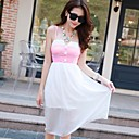 Womens Casual Sexy Bandeau Strap Dress