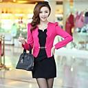 Womens Fashion OL Candy Color Slim Suits (BlazerMini Skirt)