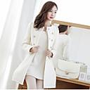 blanco outwear la manga larga de las mujeres de la moda xzsj