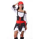 Atractivo Pirata Negro y rojo de vestido de las mujeres del traje de Halloween