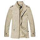 algodón jmen color sólido de la moda de la chaqueta equipada