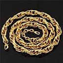 18k oro grueso lleno de collar de u7 nuevos hombres frescos enlace trenzado cadena para hombres 11mm 22inches (55cm)