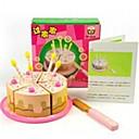 4pcs cumpleaños forma de la torta casa de juegos de madera finge los juguetes del juego