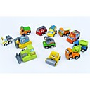 12 x coche de juguete de plástico lindo tirar de ellos hacia atrás y ver que se vayan