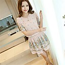 Womens New Fashion V Neck Floral Dress