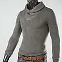 camisa de manga larga de color sólido nomo cuello solapa informal
