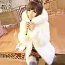 invierno cálido abrigo de piel de imitación l089 gy de las mujeres