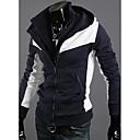 Nono Slim Leisure Hooded Contrast Color Fleece