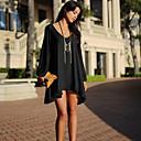 vestido con cuello en V gasa floja de la manera de las mujeres bela