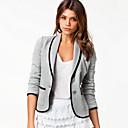 cuello de solapa equipado traje chaqueta corta de las mujeres qsh