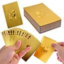 lujo oro 24k jugando poker lámina juegos de cartas con cuadro buen regalo