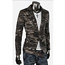 GMIG Men's Long Sleeve Slim A Botton Disruptive Pattern Suit Blazer