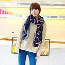 Womens Twill Flower Chain Scarf