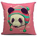 Country Panda Cotton/Linen Decorative Pillow Cover
