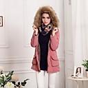 Womens Fur Collar Hooded Fleece Lined Parka