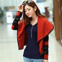 Womens Turndown Contrast Color Loose Knitwear Cardigan Coat