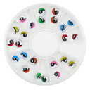 24 pcs 5 Colors Charming Eyelike Nail Art Decoration