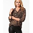 shirts impresión del leopardo de las mujeres tyt