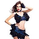 plumas y diamantes de imitación de baile samba traje de las mujeres de rendimiento (más colores)
