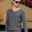 camisa de manga larga con cuello en V de duobilun hombre