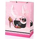 bolsa de regalo de color rosa de tacón alto