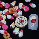 100 piezas de resina de pintura 3d decoración del arte del clavo de la torta