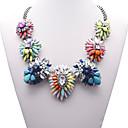 Eternity Womens Gem Flower Pattern Necklace