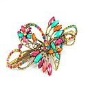 Alloy Rhinestone Woman and Flower Girls Barrette(More Colors)