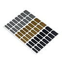 16pcs Manicure Sticker Decal Gold and Black Metal Sticking(Assorted Color)