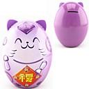 1pcs púrpura fortuna de colores caja de monedas caja de dulces gato ahorro de dinero alcancía (15x12x10cm)