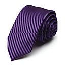 7 cm de ancho negroamp;corbata de seda de color púrpura