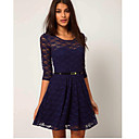 TYT Women's Lace 3/4 Sleeve dress